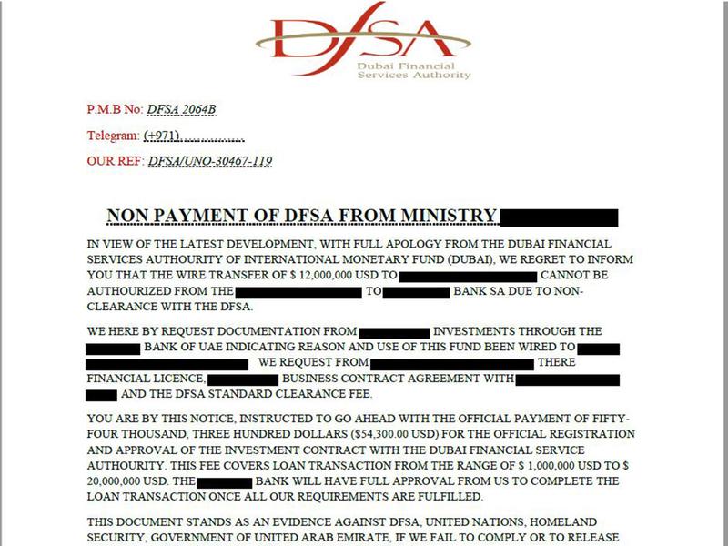 dfsa loan scam