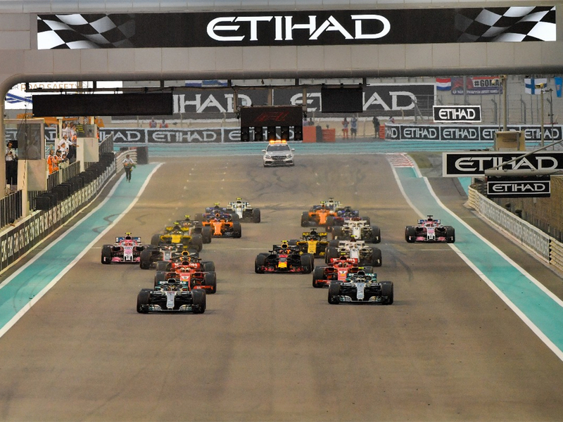 Lewis Hamilton leads the pack