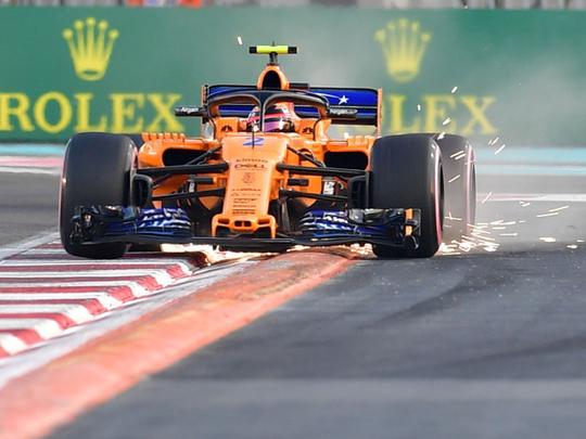 McLaren's Belgian driver Stoffel Vandoorne