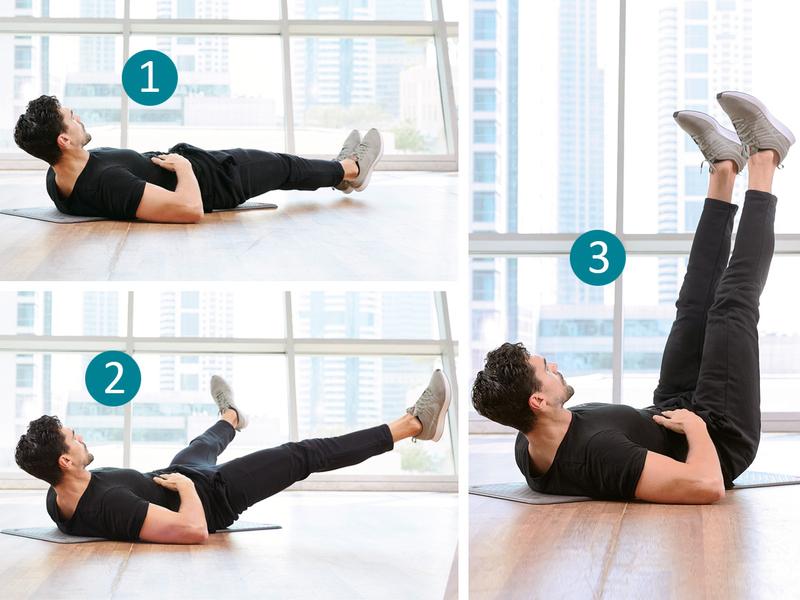 Leg raises variation