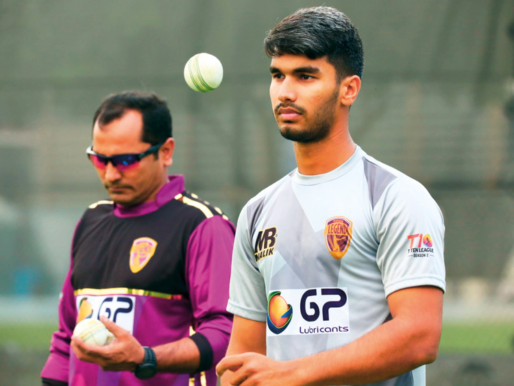 Hassan Khan, the 20-year-old Punjabi Legends spinner