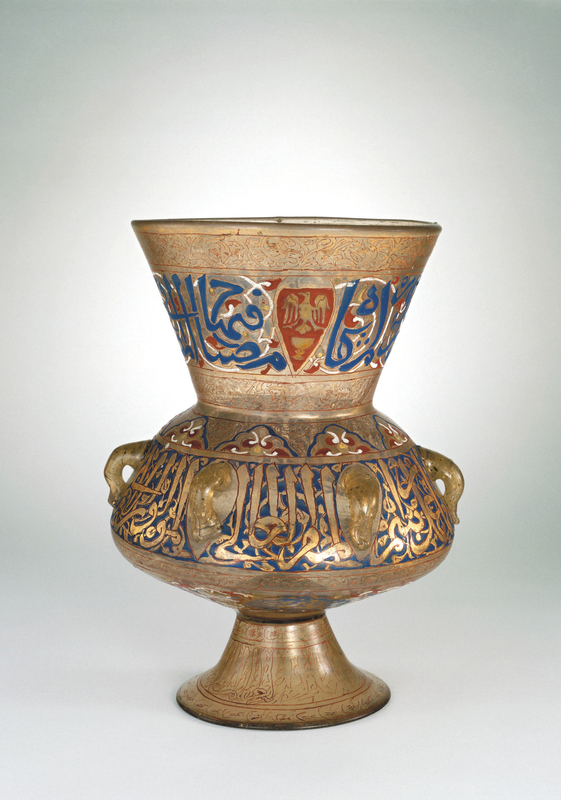 Enamelled glass mosque lamp
