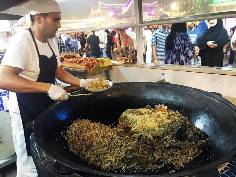Food tour through Global Village