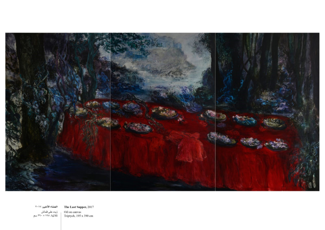 the last supper by ziad dalloul - oil on canvas