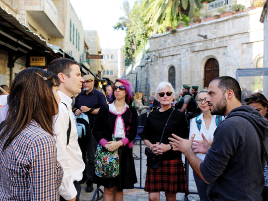 writers-listening-to-tour-guide-in-Jerusalem-(Read-Only)