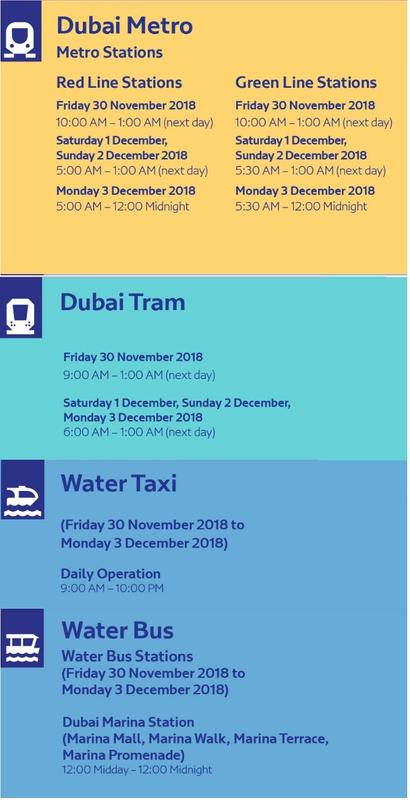 Metro Tram Water Taxi and Water Bus timings 091