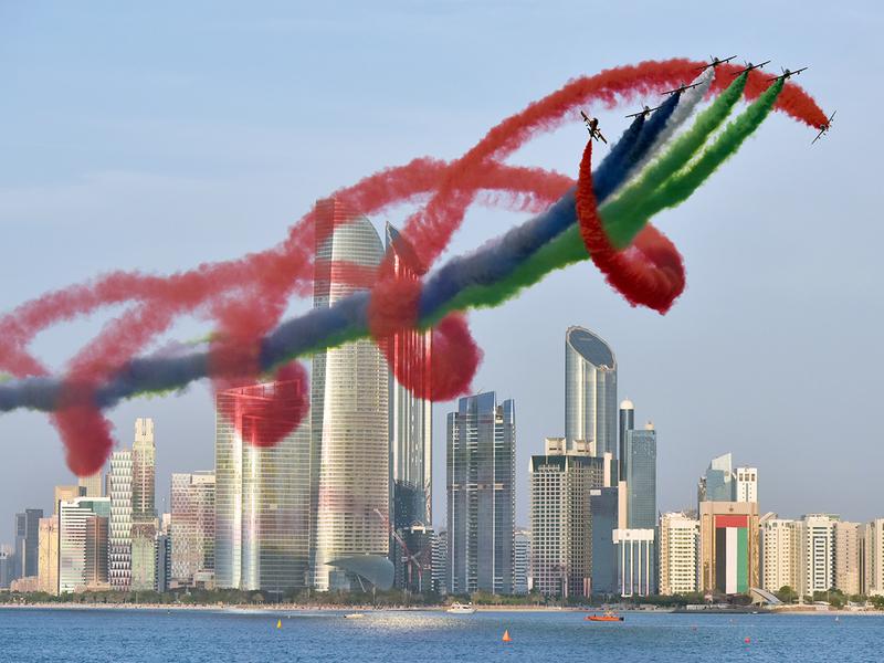 Al Fursan aerobatic team perform