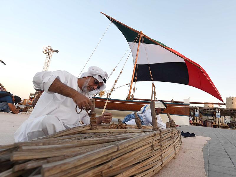 Emirati fishermen