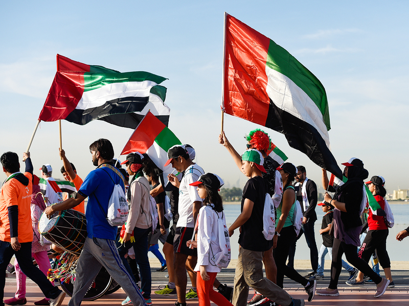 Expatriates join the UAE Solidarity Walk