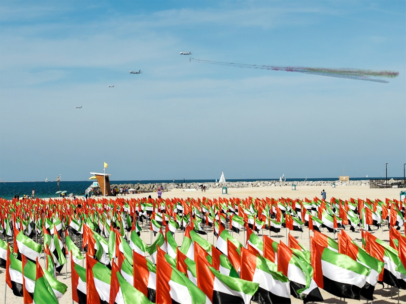 Fly past by UAE carriers