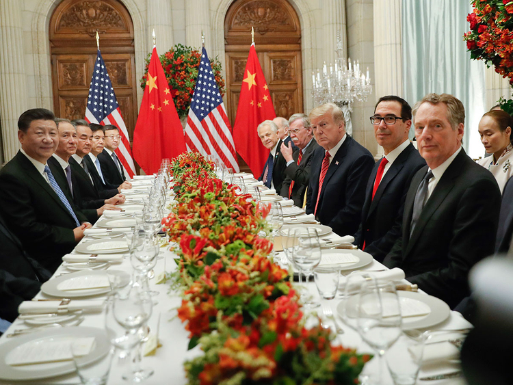 President Donald Trump with China's President Xi Jinping