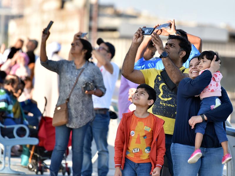 Spectators watch