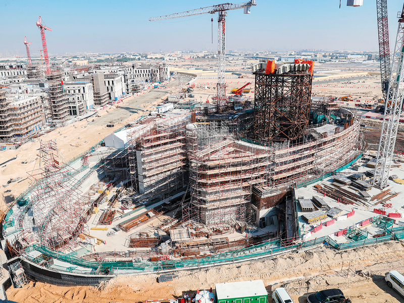 Work in progress at the Dubai Expo 2020 site