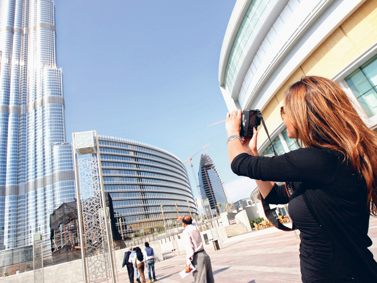 Burj Khalifa visitor