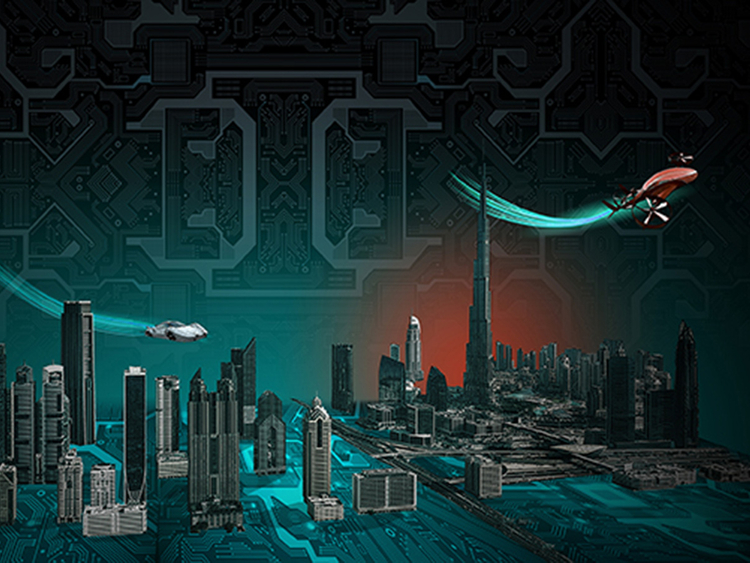Dubai 2050 illustration for web