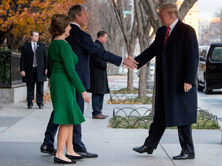 President Donald Trump with Bush