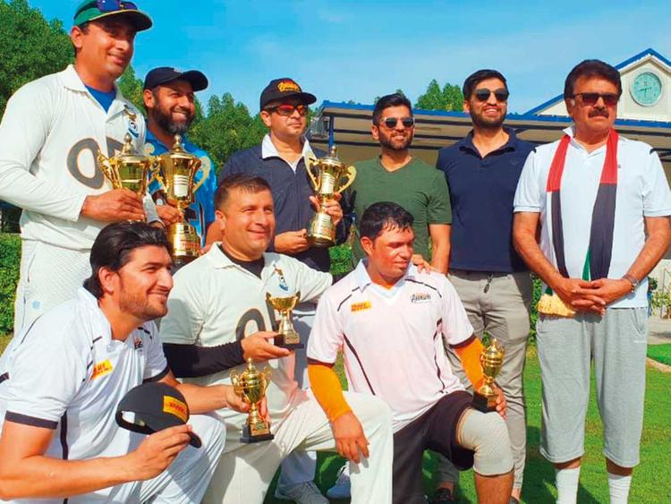 The winner and runner-up captains