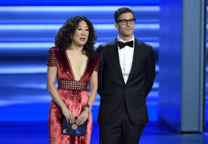 tab Sandra Oh and Andy Samberg