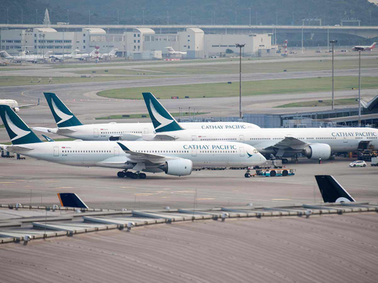 Cathay Pacific Airways passenger jets 09122018