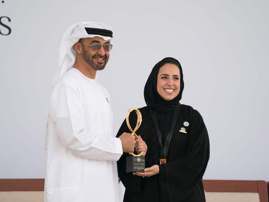 Farah Al Qaissieh with Shaikh Mohammad Bin Zayed 09122018