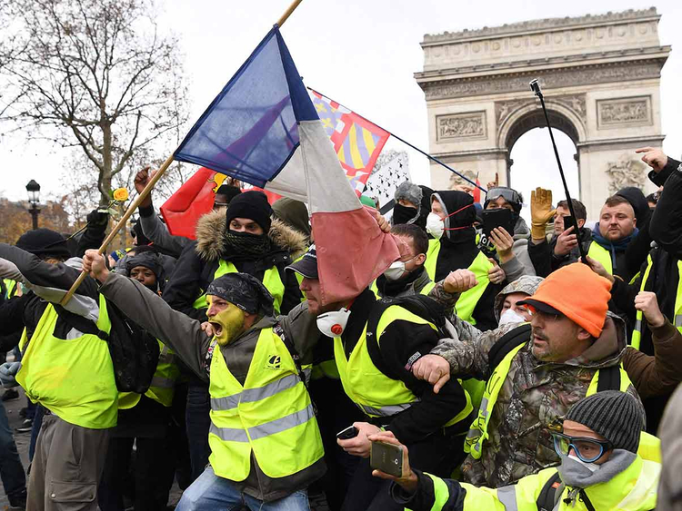 Yellow vest protest Paris 09122018