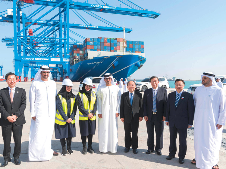 Cosco built container terminal opens in Abu Dhabi
