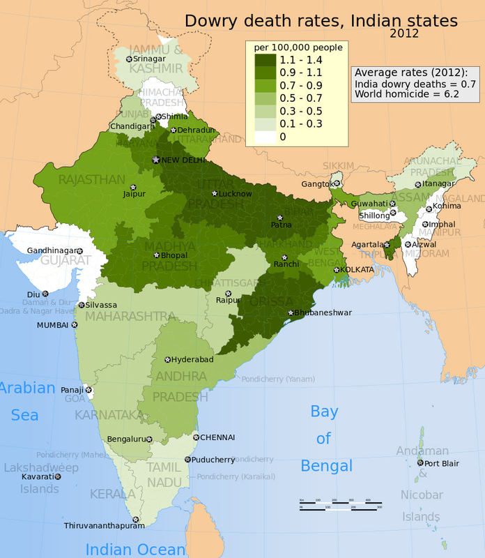 Indian dowry deaths 2012
