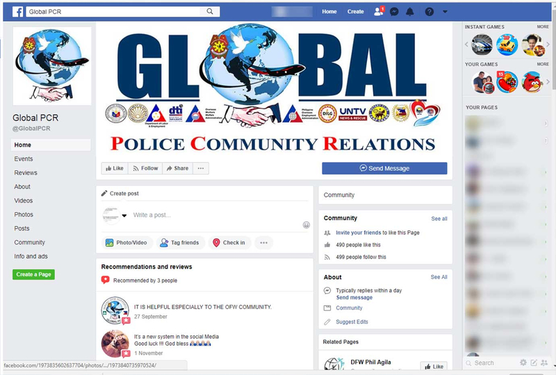 PNP facebook page