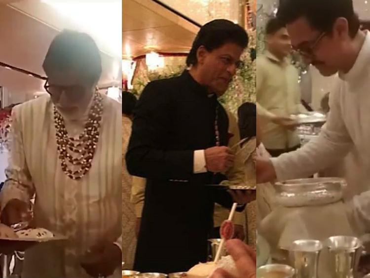 RDS_181215 Bollywood stars serve food at Ambani wedding