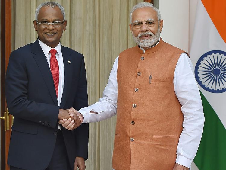 Narendra Modi and Ibrahim Mohamed Solih 181217