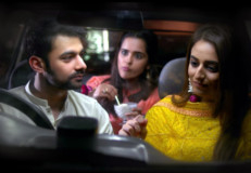 Umer Naru with Kinza Razzak (R), in a still from the TV serial, DILARA