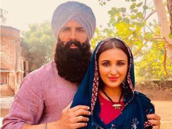 Akshay and Parineeti on set of Kesari