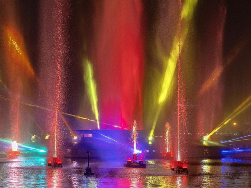 Dubai Festival City Imagine light, sound and water show