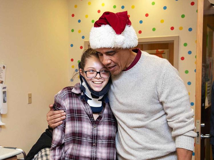Barack Obama as Santa  20122018