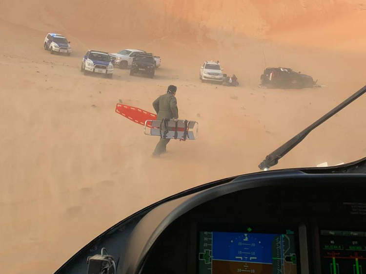 Abu Dhabi accident Air Wing rescue 23122018