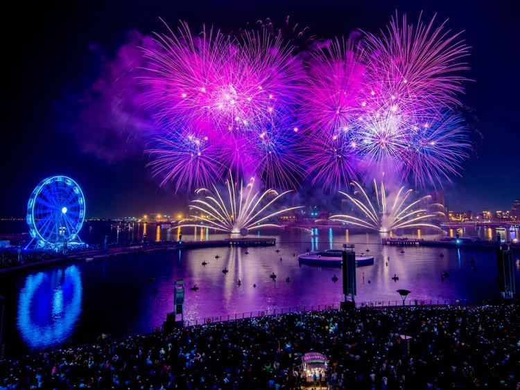 Dubai Festival City NYE fireworks