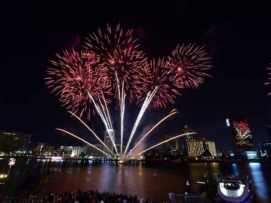 Fireworks at Al Seef