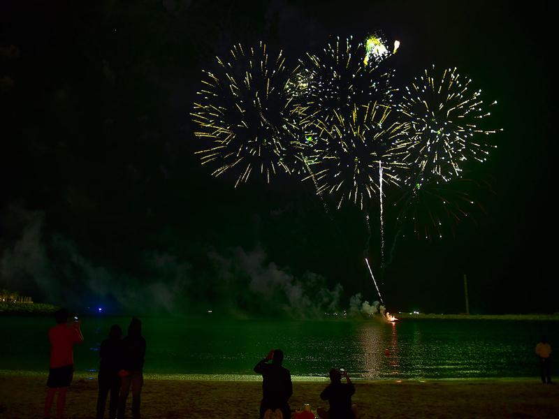 Fireworks at Le Mer