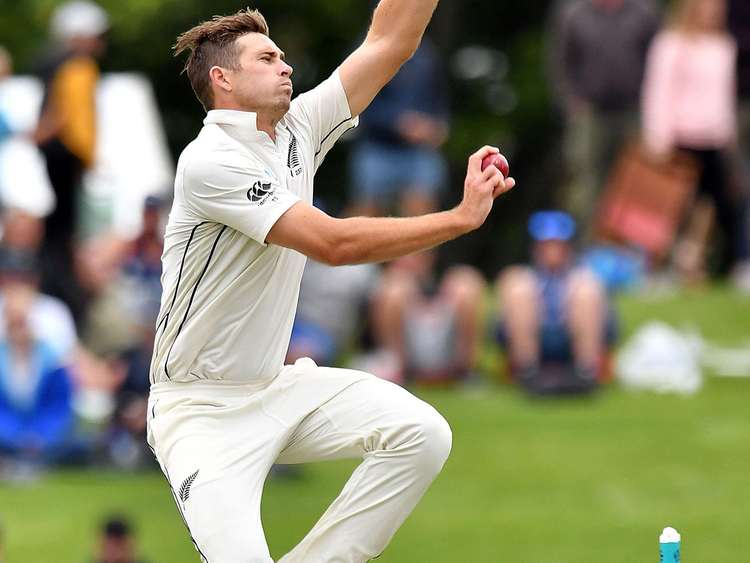 New Zealand's paceman Tim Southee
