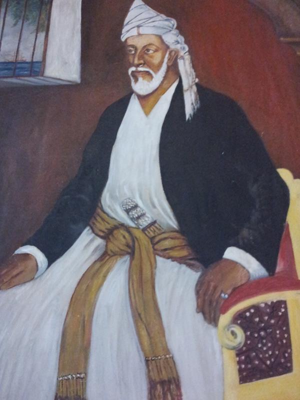REG 181119 ZANZIBAR_  Painting of Sayyid Said Bin Sultan Al Bu Said in the House of Wonders in Zanzibar