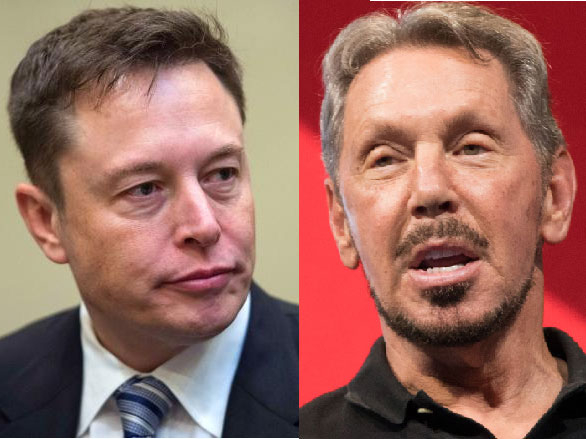 Larry Ellison and Musk