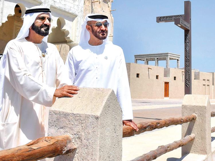 Shaikh Mohammad Bin Rashid Al Maktoum with Shaikh Mohammad Bin Zayed Al Nahyan.