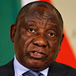 South African President Cyril Ramaphosa in parliament during the annual State of the Nation address