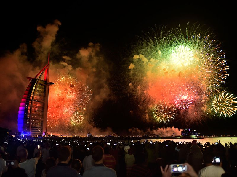Burj Al Arab on New Year's Eve 2019