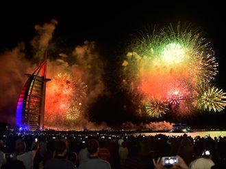 Burj Al Arab on New Year's Eve 2019