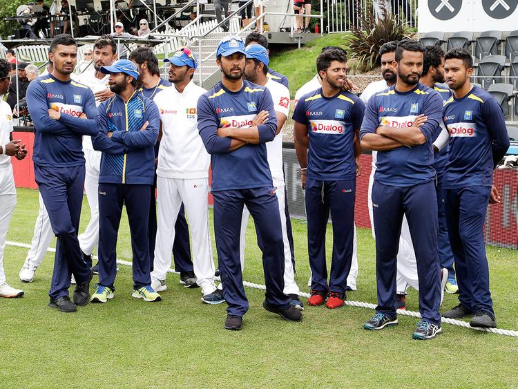 Sri Lankan team members