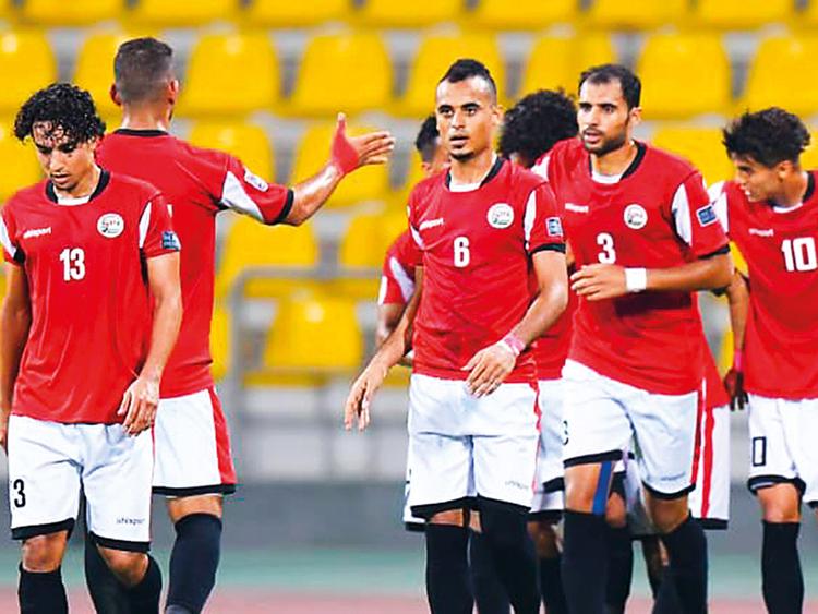 Yemen team celebrate