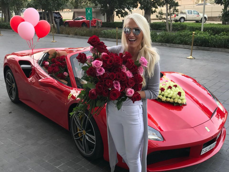 Dubai expat gets 1,000 roses loaded in red Ferrari for Valentine's