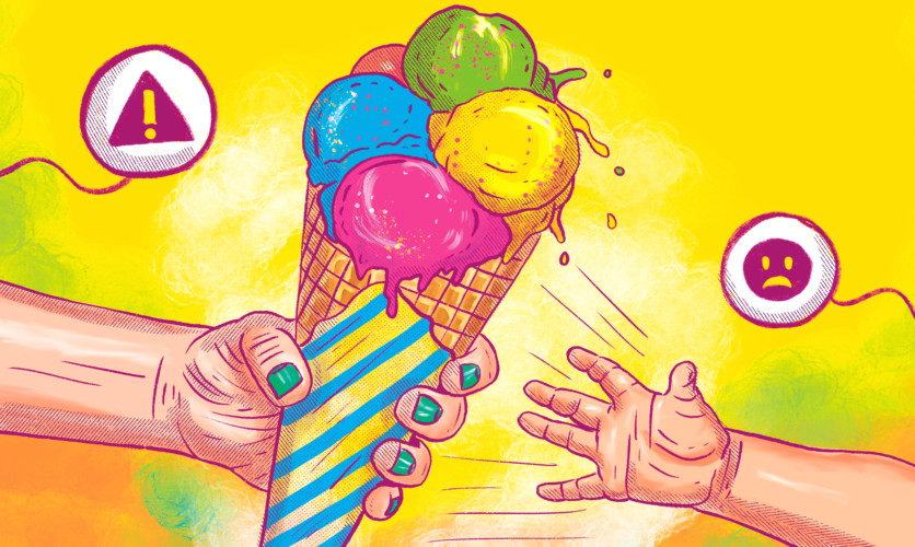 Why taking away your child's ice cream is such a bad idea