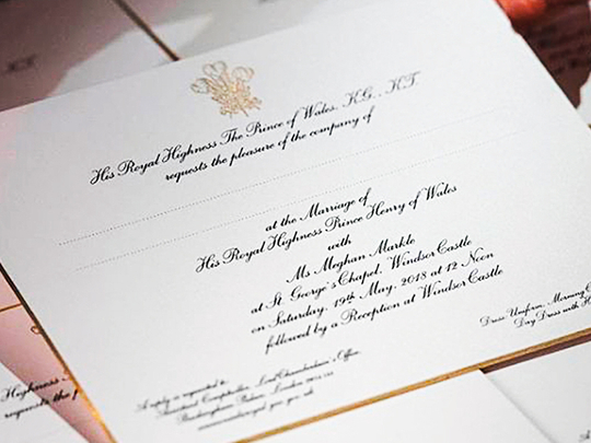 The Best Prince Harry And Meghan Markle Wedding Invitation